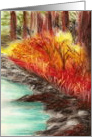 November Woods Original Pastel Thanksgiving Card