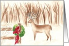 Christmas Deer Christmas Card Watercolor card