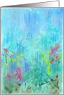 Birthday, Abstract Acrylic Flowers in Summer Rain card