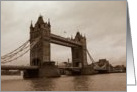 Tower Bridge, London card