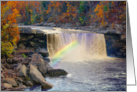 Blank Note Card, Cumberland Falls in Autumn, Rainbow card