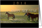 2014 New Year, Wild Horses Run Free card