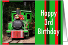 Train Happy 3rd Birthday card