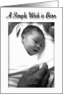 Congratulations New Baby, Wrapped Newborn Baby in Daddys Hand card