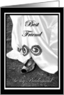 Best Friend be my Bridesmaid Wedding Dress and Shoe card