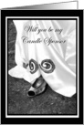 Be My Candle Sponsor Wedding Dress and Shoe card