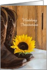 Wedding Invitation,Rustic Sunflower Cowboy Boots,Custom Personalize card