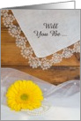 Country Wedding, Bridesmaid Invitation,Yellow Daisy,Custom Personalize card