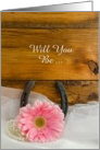 Country Wedding, Bridesmaid Invitation,Pink Daisy,Custom Personalize card