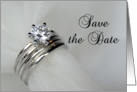 Save the Date - Wedding Rings card