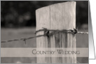 Wedding Save the Date Announcement Country Fence Post card