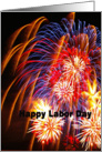 Happy Labor Day: Fireworks card