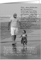Bride to Father: father and daughter on beach card
