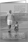 Bride to Dad : father and daughter on beach card