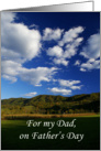 Father's Day: Clouds over mountain card