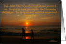 Happy Father's Day: Walking at Sunrise card