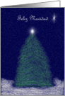 Feliz Navidad: Christmas Tree and star card