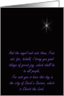 Christmas Remembrance: star of Bethlehem card