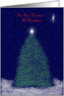 Merry Christmas Groomer: tree and star card