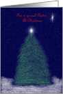 Merry Christmas Pastor: tree and star card
