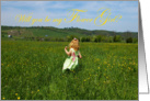 Will you be my flower girl: field of buttercups card