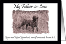 Happy Father's Day Father-in-Law: Labrador card