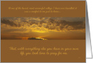 Thank you for prayers sympathy: glorious sunrise card