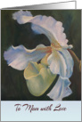 Happy Mother&rsquo;s Day for Mom, Slipper Orchid painting card