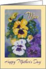 Happy Mother&rsquo;s Day for Mom, Pansy Colour painting card