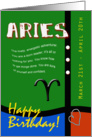 Zodiac Birthday Series 2011 - Aries card