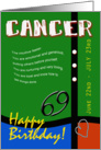 Zodiac Birthday Series 2011 - Cancer card