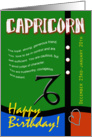 Zodiac Birthday Series 2011 - Capricorn card