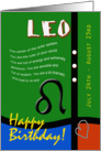 Zodiac Birthday Series 2011 - Leo card