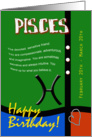 Zodiac Birthday Series 2011 - Pisces card