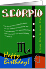 Zodiac Birthday Series 2011 - Scorpio card