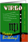 Zodiac Birthday Series 2011 - Virgo card