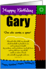 Biblical Birthday - Gary card