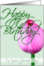 Happy Birthday - Tulip series/On your special day card