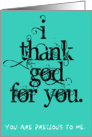 I Thank God For You card