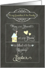 Easter Blessings to my Grandson and his family, chalkboard effect card