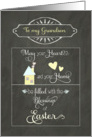 Easter Blessings to my Grandson, chalkboard effect card