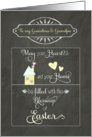 Easter Blessings to my Grandma and Grandpa, chalkboard effect card