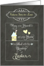 Easter Blessings to my future son-in-law, chalkboard effect card