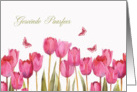 Happy Easter in Afrikaans, Gese�nde Paasfees, tulips, butterflies card