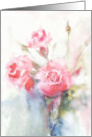 cancer survivor encouragement, pink watercolor roses, card