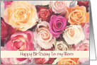happy birthday to my Mom, roses card