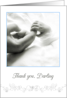 thank you darling husband, baby boy, elegant congratulations card