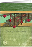 to my Ex-Husband, merry christmas card, fir cone, pine, 3-d effect card
