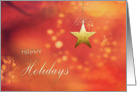 Happy Holidays, Christmas Card, Star Ornament, twinkling stars card
