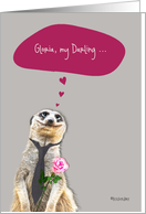 I love you, ..., customizable love & romance card, cute meerkat card
